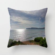 Coastal View Throw Pillow