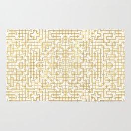 Geometric Symmetry Gold 2 Rug
