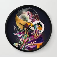 homer Wall Clocks featuring HOMER ON ACID by Mathis Rekowski