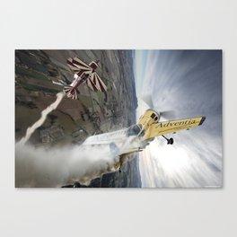 Aerobatic duel Canvas Print