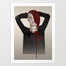 broken hearted  Art Print