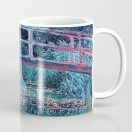 Monet The Lily Pond Turquoise Pink Coffee Mug