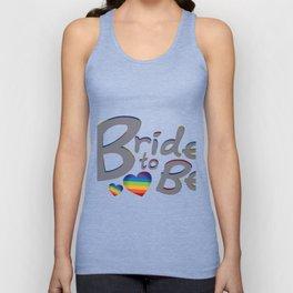 LGBT Wedding Bride to Be Lesbian Bride Unisex Tank Top