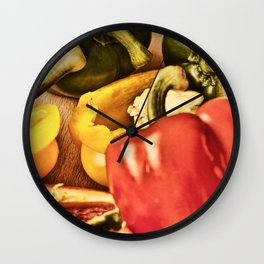 Peppered 4 Wall Clock