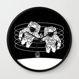 Astronaut black and white Gemini Wall Clock