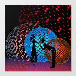 have a little dance with me Canvas Print