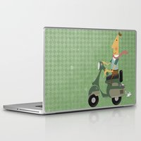 vespa Laptop & iPad Skins featuring Vespa by Aguinaldo Goncalves