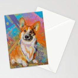 Colorful Corgi Painting Stationery Cards