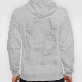 The Perfect Classic White with Grey Veins Marble Hoody
