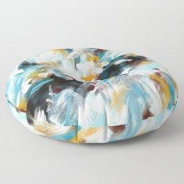 Not the Monday Blues Acrylic Abstract Art Floor Pillow