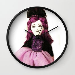 Pretty in Purple Doll Wall Clock