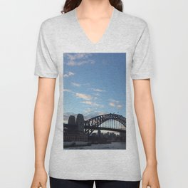 Sydney Australia harbour bridge Unisex V-Neck