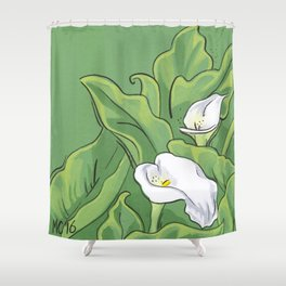Calla Lily Valley Shower Curtain