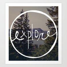 Explore Oregon Art Print