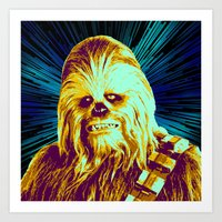 chewbacca Art Prints featuring Chewbacca by victorygarlic - Niki