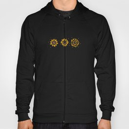 Yellow Sunflower Floral Watercolor Positivity Hoody