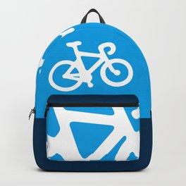 Blue Bike Backpack