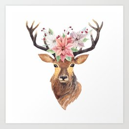 Winter Deer 3 Art Print
