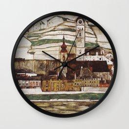 Egon Schiele - Stone on the Danube Wall Clock
