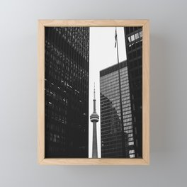 CN Tower Between Buildings Framed Mini Art Print