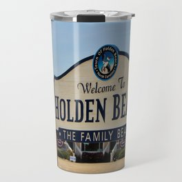 A Family Beach Travel Mug