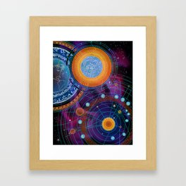 MOON AND PLANETS Framed Art Print