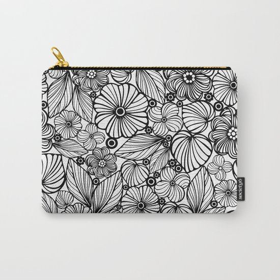 Candy flowers in black Carry-All Pouch