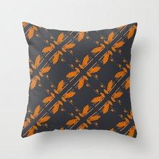 Orange chamomiles  Throw Pillow