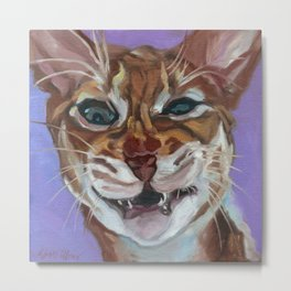 Sassy Cat Portrait Metal Print