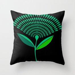 Mid Century Modern Dandelion Seed Head In Carnival Glass Throw Pillow