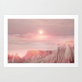 Pastel Desert Pink Art Print