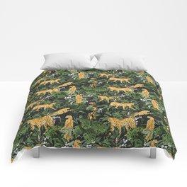 Cheetah in the wild jungle Comforters