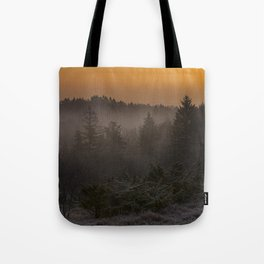 Misty and golden morning Tote Bag