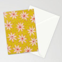 sema yellow fire orange Stationery Cards