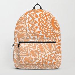Orange Tangerine Mandala Detailed Textured Minimal Minimalistic Backpack