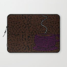 Cup O Type Typographic Coffee Cup Illustration Laptop Sleeve