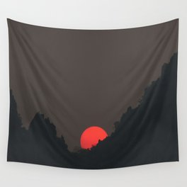 Vang Vieng Sunset (portrait) Wall Tapestry