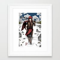 roosterteeth Framed Art Prints featuring Medieval Huntress Ruby Rose by OreadArt
