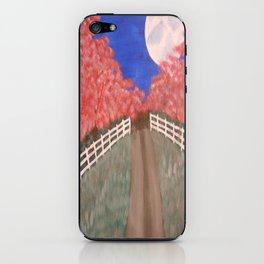 Cherry Blossom Pathway iPhone Skin