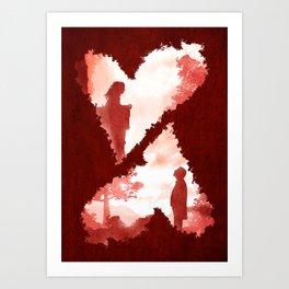 Secret Lovers Meet Art Print