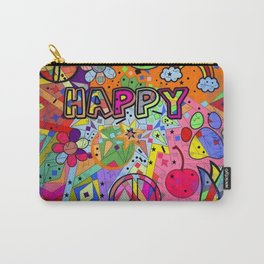 Happy Popart by Nico Bielow Carry-All Pouch