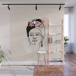 Brave and Strong Feminist Icon portrait Wall Mural