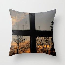 Istanbul Bridge Throw Pillow