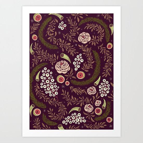 Autumn's Dusk Floral Art Print