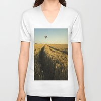 balloon V-neck T-shirts featuring Balloon by Kailey Worf