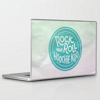 rock and roll Laptop & iPad Skins featuring Rock & Roll Hoochie Koo by Josh LaFayette