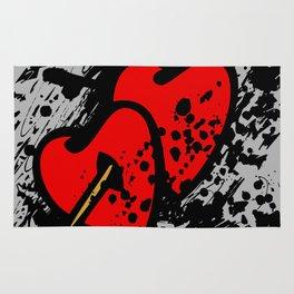 Hearts pierced with an arrow Rug