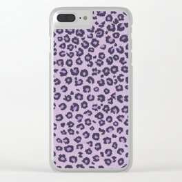 Pink cheetah Clear iPhone Case