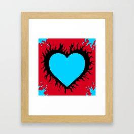 Flaming Heart Framed Art Print