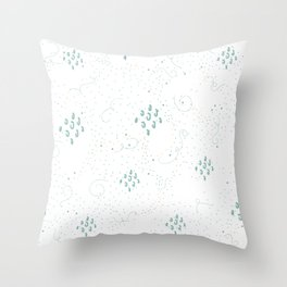 Seamless Pattern with cute Rectangles. Hand Drawn Scandinavian Style Throw Pillow